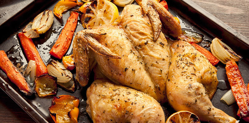Receta Paleo: Pollo asado en corte de mariposa