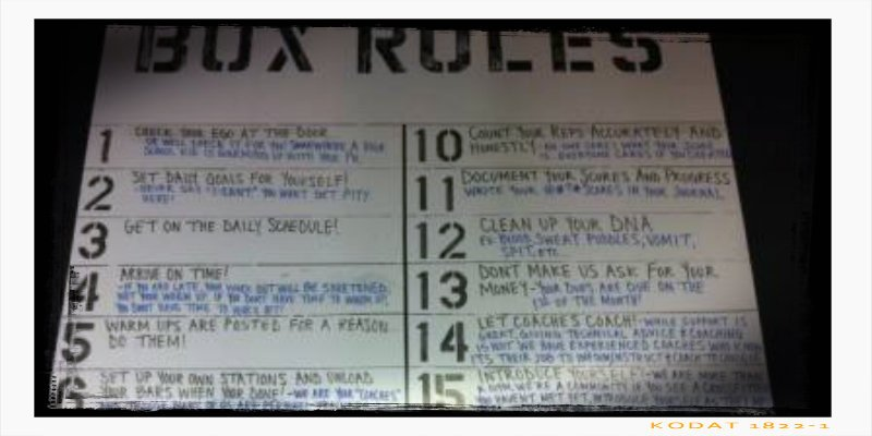 Reglas BOX crossfit