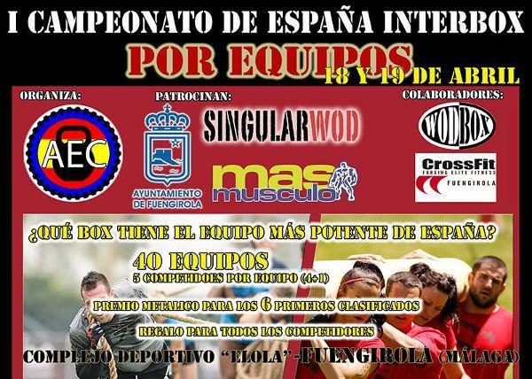 I  Campeonato de España InterBOX por equipos (Fuengirola 2015)