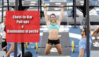 Chest To Bar o dominadas al pecho, guía del ejercicio
